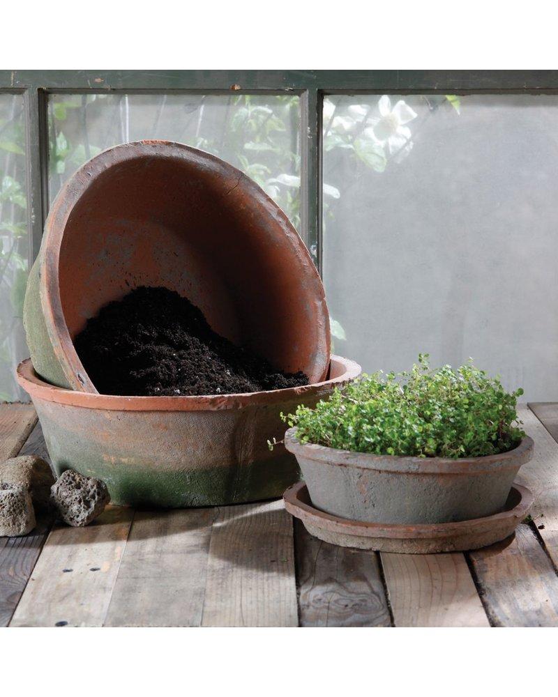 HomArt Rustic Terra Cotta Bulb Pot - Sm - Antique Red
