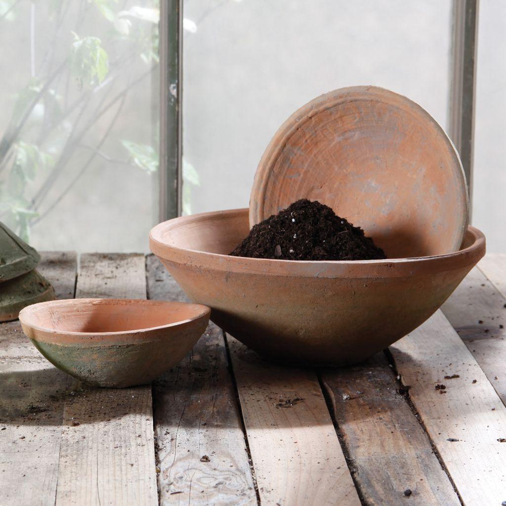 HomArt Rustic Terra Cotta  Bowl - Sm - Antique Red