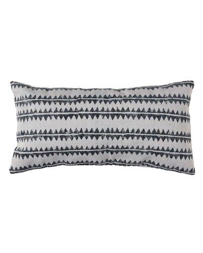 HomArt Block Print Lumbar Pillow 12x24 - Sawtooth Stripe