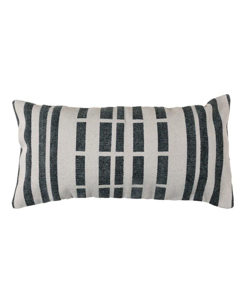 HomArt Block Print Lumbar Pillow 12x24 - Broken Stripe
