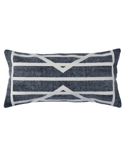HomArt Block Print Lumbar Pillow 12x24 - Centerpoint Stripe