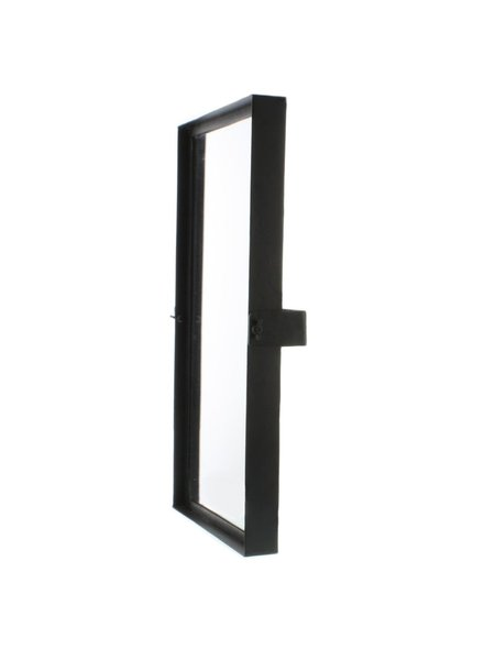 HomArt Pivot Iron Mirror, Rect - Sm - Black Waxed