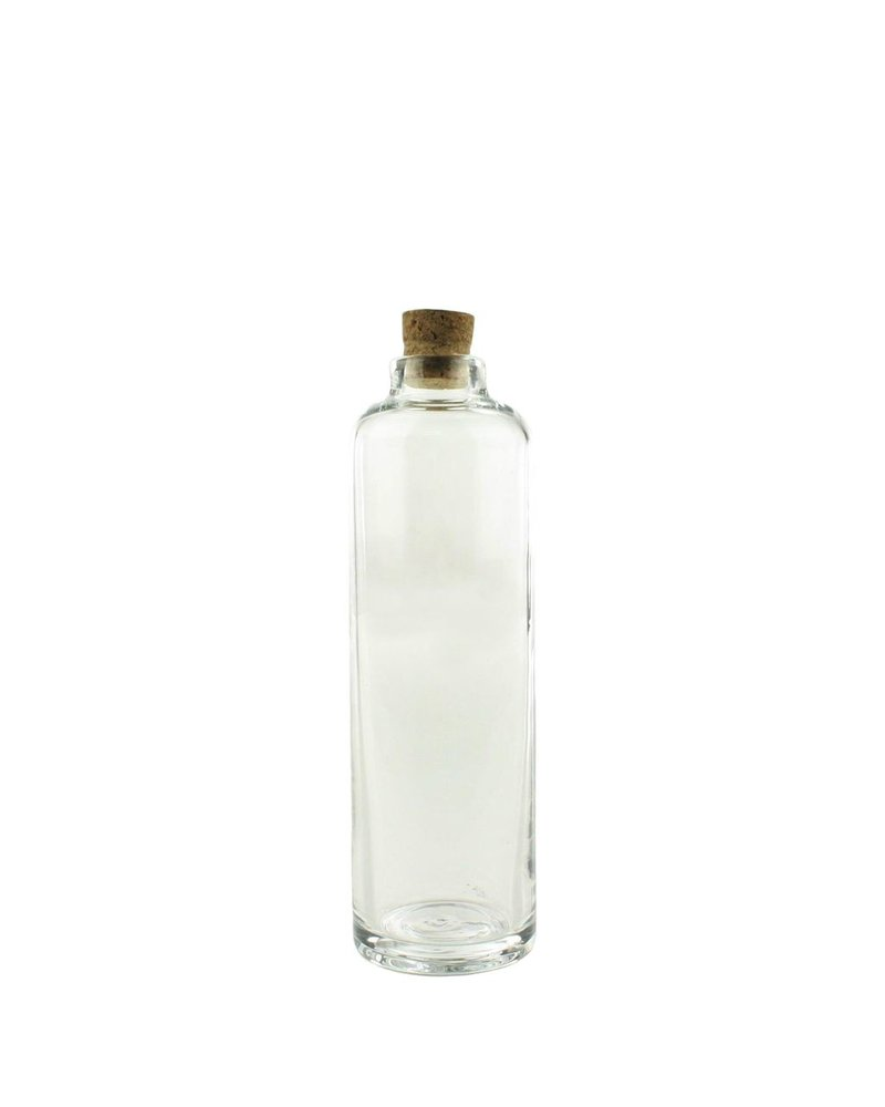 HomArt Crue Glass Bottle - Sm - Clear