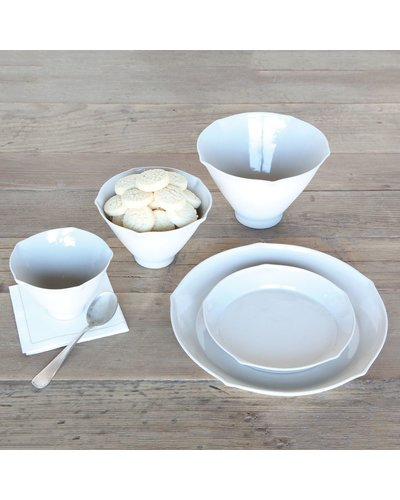 HomArt Cinq Ceramic Bowl - Sm - White