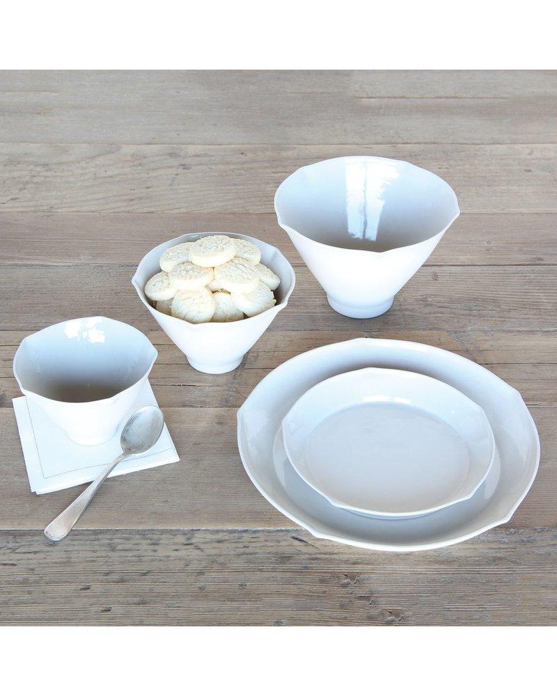 HomArt Cinq Ceramic Plate - Lrg - White