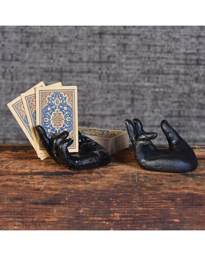 HomArt Single Hand Card Holder - Antique Black