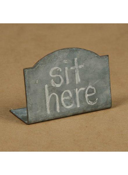 HomArt Zinc Place Card Plaque - Box of 6