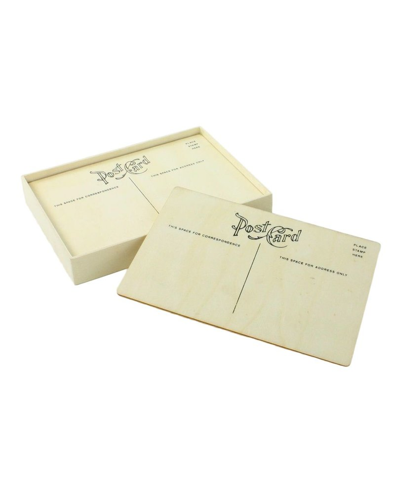 HomArt Post Card - Classic - Box of 12 - Natural Wood