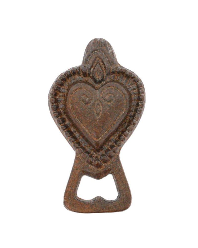 HomArt Sacred Heart Bottle Opener - Rust