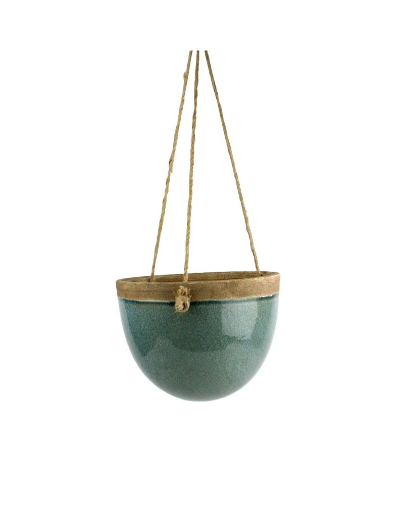 HomArt Mulberry Hanging Planter - Sm - Teal