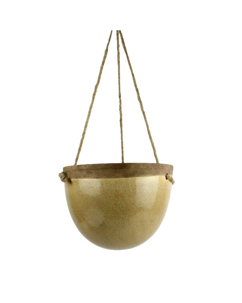 HomArt Mulberry Hanging Planter - Sm - Yellow