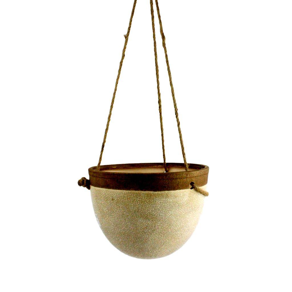 HomArt Mulberry Hanging Planter - Sm - White