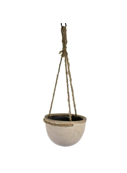 HomArt Mulberry Hanging Planter - Petite - White