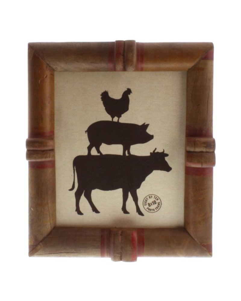 HomArt Piper Wood Spool Picture Frame 8x10