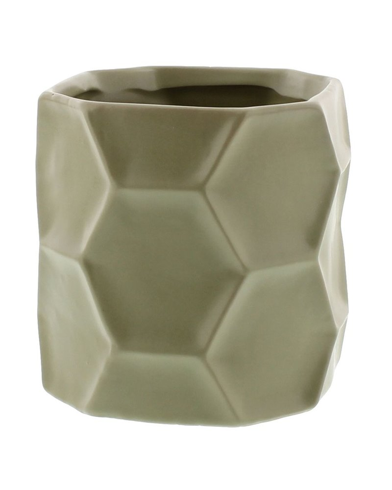 HomArt Kane Ceramic Vase - Sm - Matte Green
