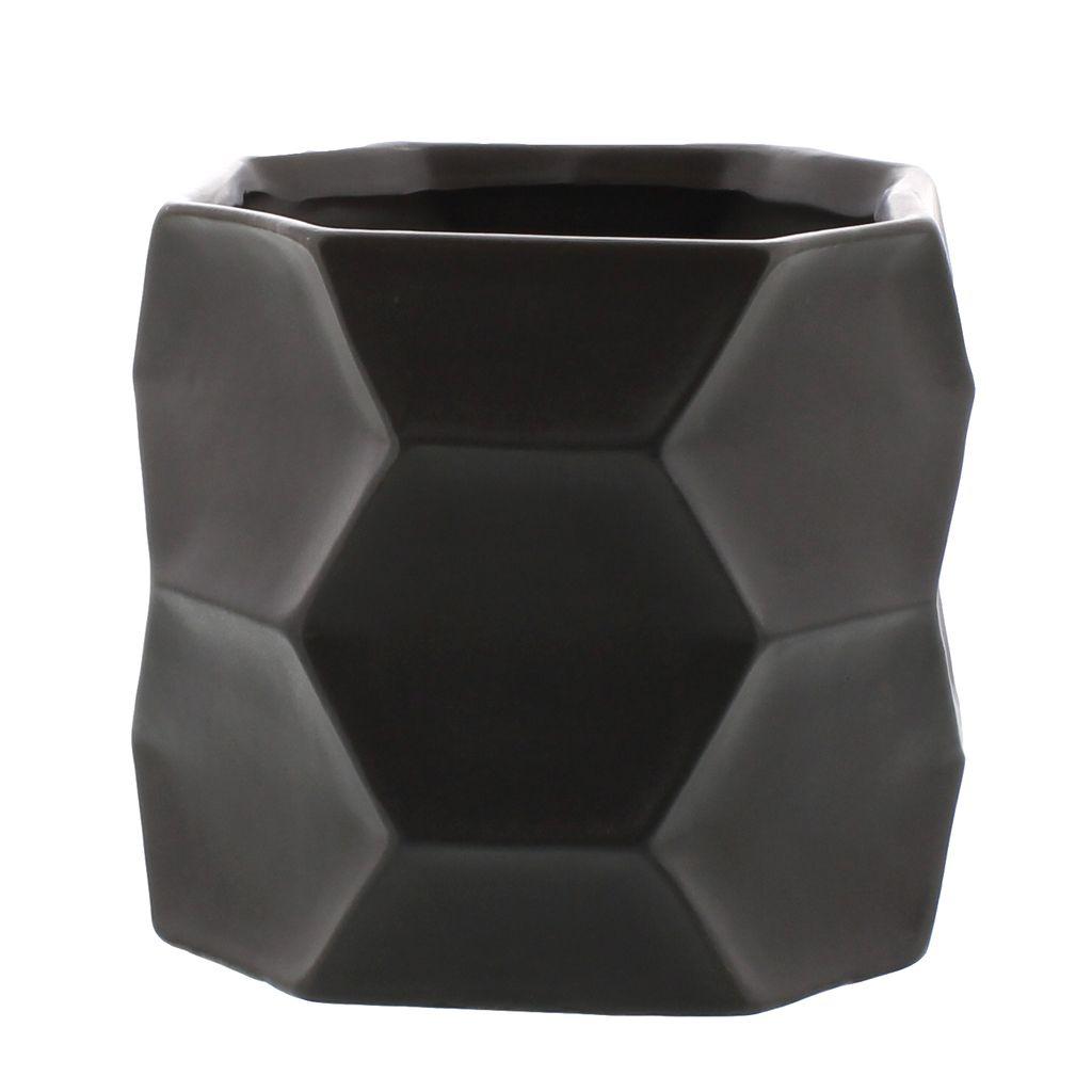 HomArt Kane Ceramic Vase - Med - Matte Charcoal
