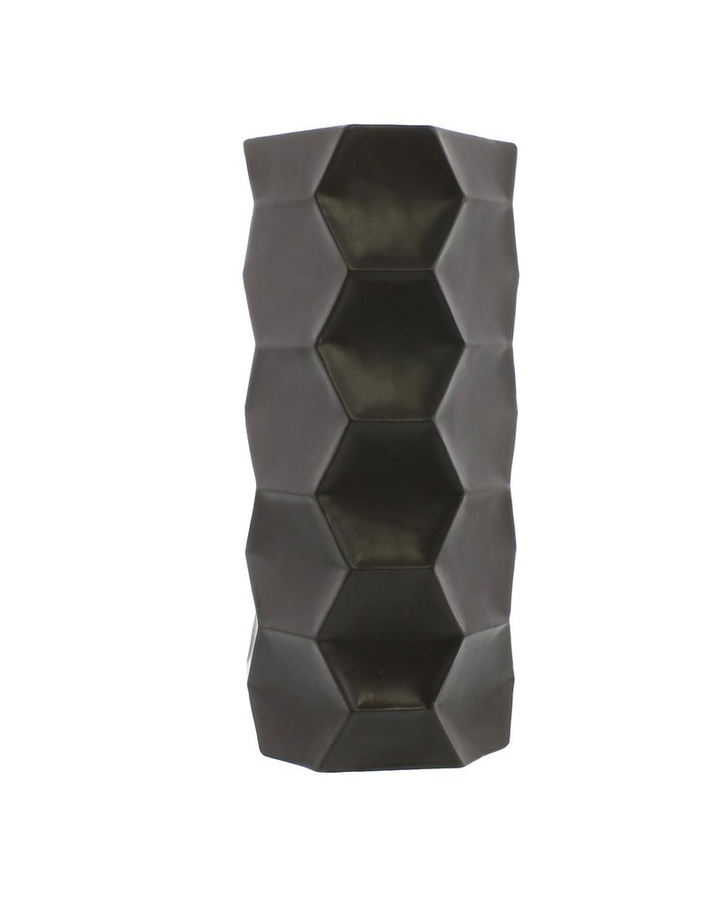 HomArt Kane Ceramic Vase - Grand - Matte Charcoal