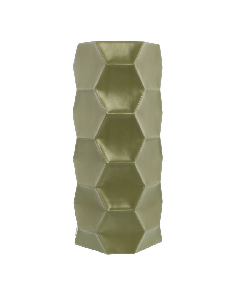 HomArt Kane Ceramic Vase - Grand - Matte Green