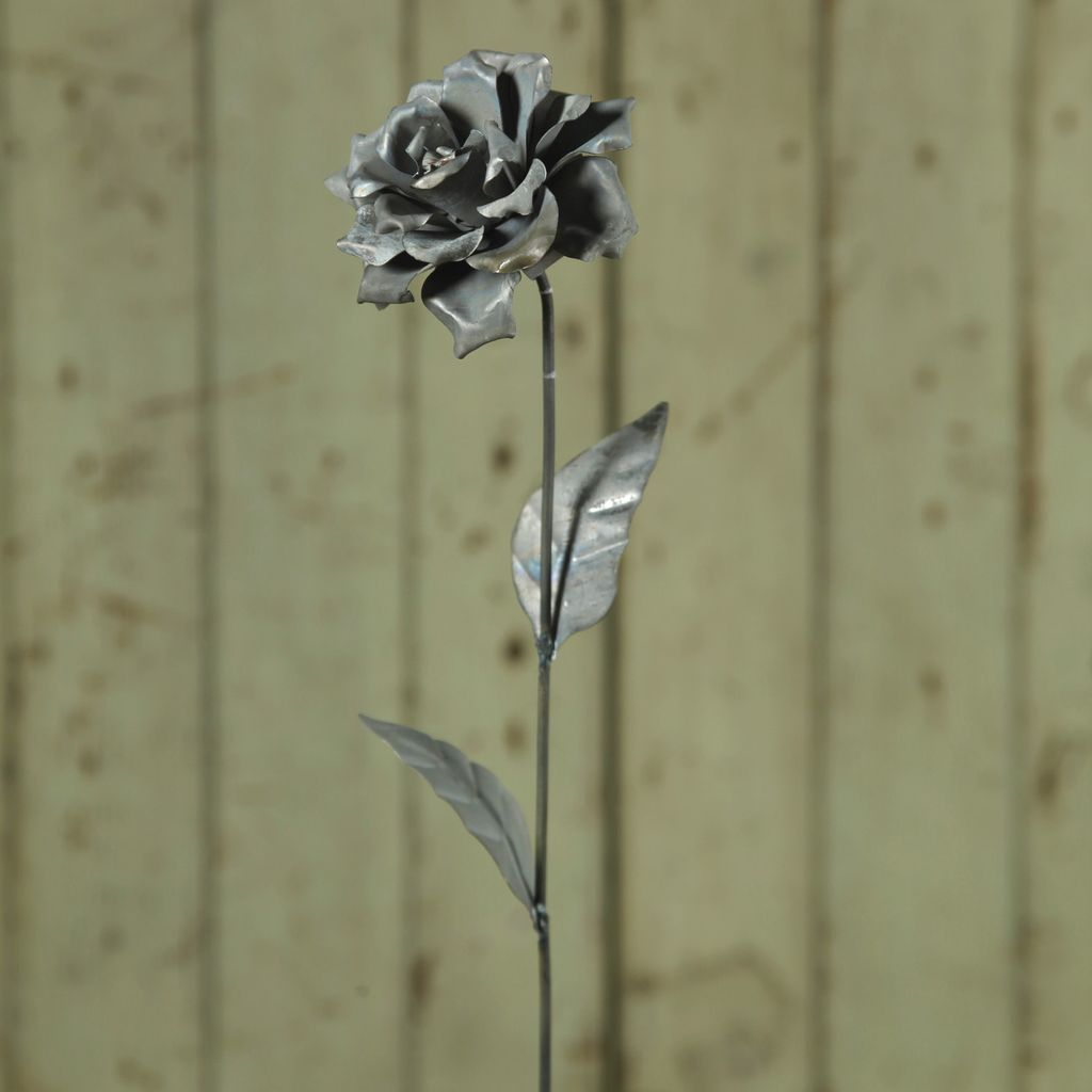 HomArt Rose Galvanized Taper Stake - 10 in