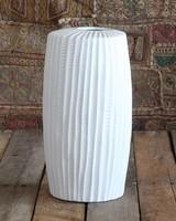 HomArt Latitude Ceramic Vase - Tall Wide - Lrg Matte White