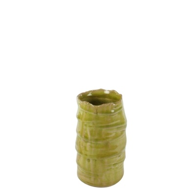 HomArt Burundi Ceramic Vase - Petite Grass Green Crackle