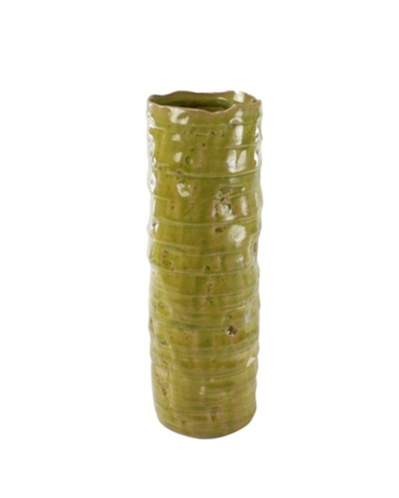 HomArt Burundi Ceramic Vase - Lrg - Grass Green Crackle