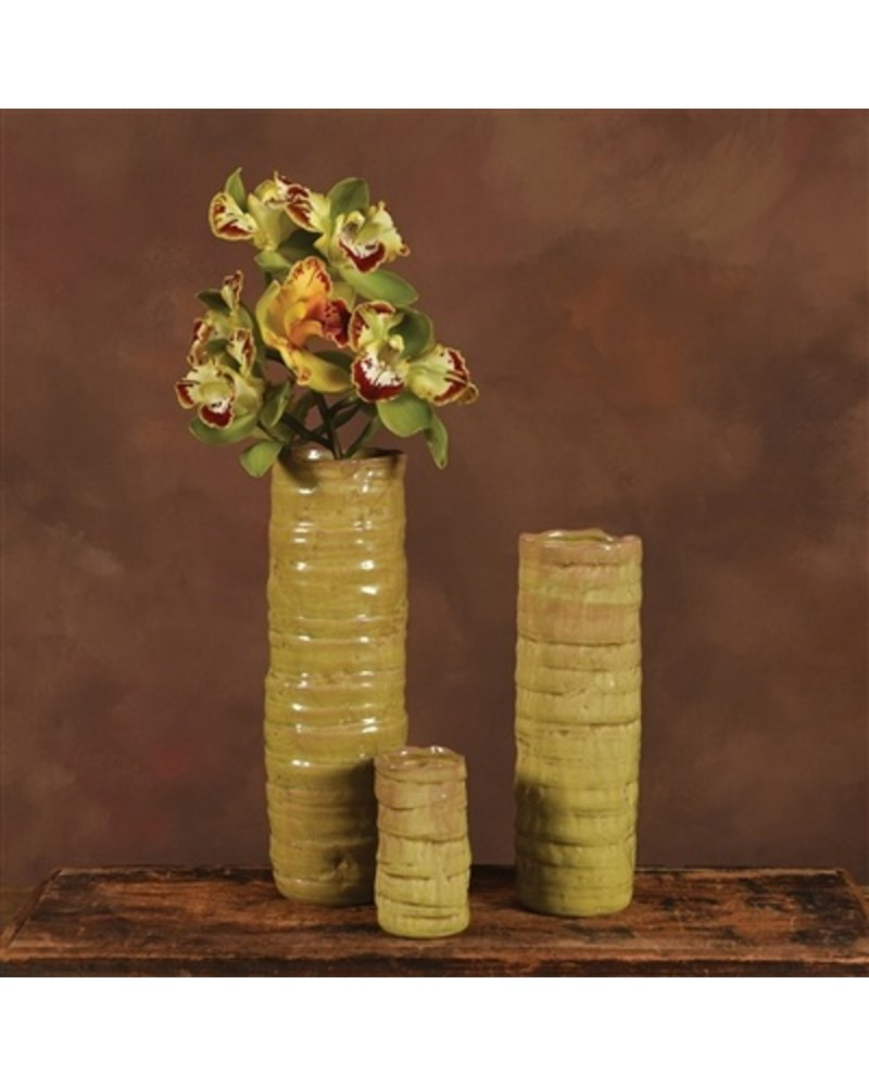 HomArt Burundi Ceramic Vase - Petite Grass Green Crackle