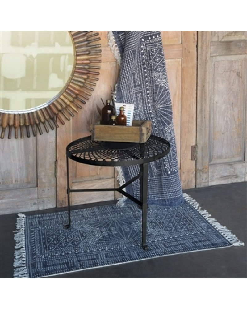 HomArt Woven Iron Table  Black Waxed