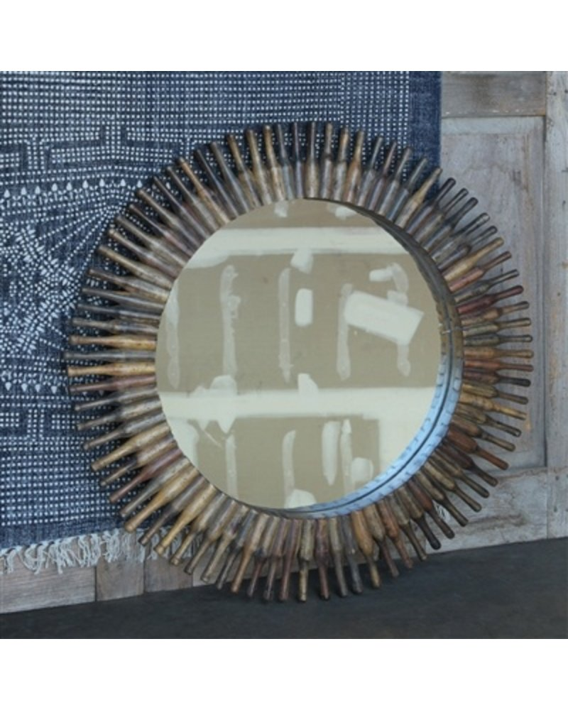 HomArt Chapatti Rolling Pin Mirror - Round, Full Pin