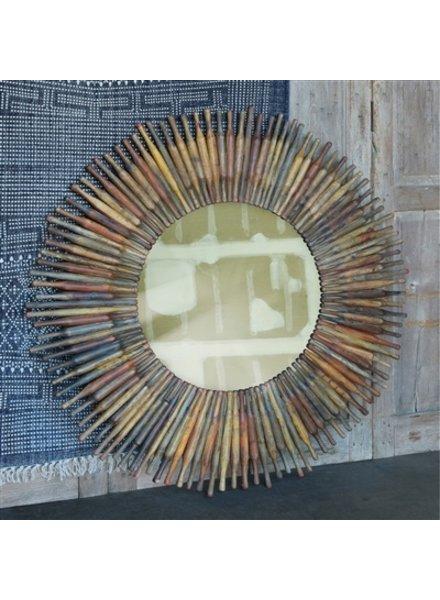HomArt Chapatti Rolling Pin Mirror - Round, Half Pin