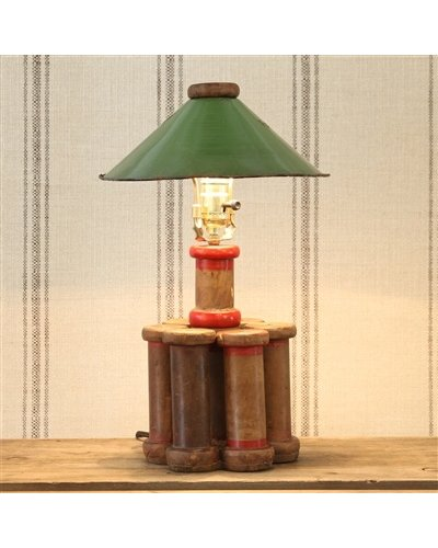 HomArt Piper Wood Spool Lamp - Lrg