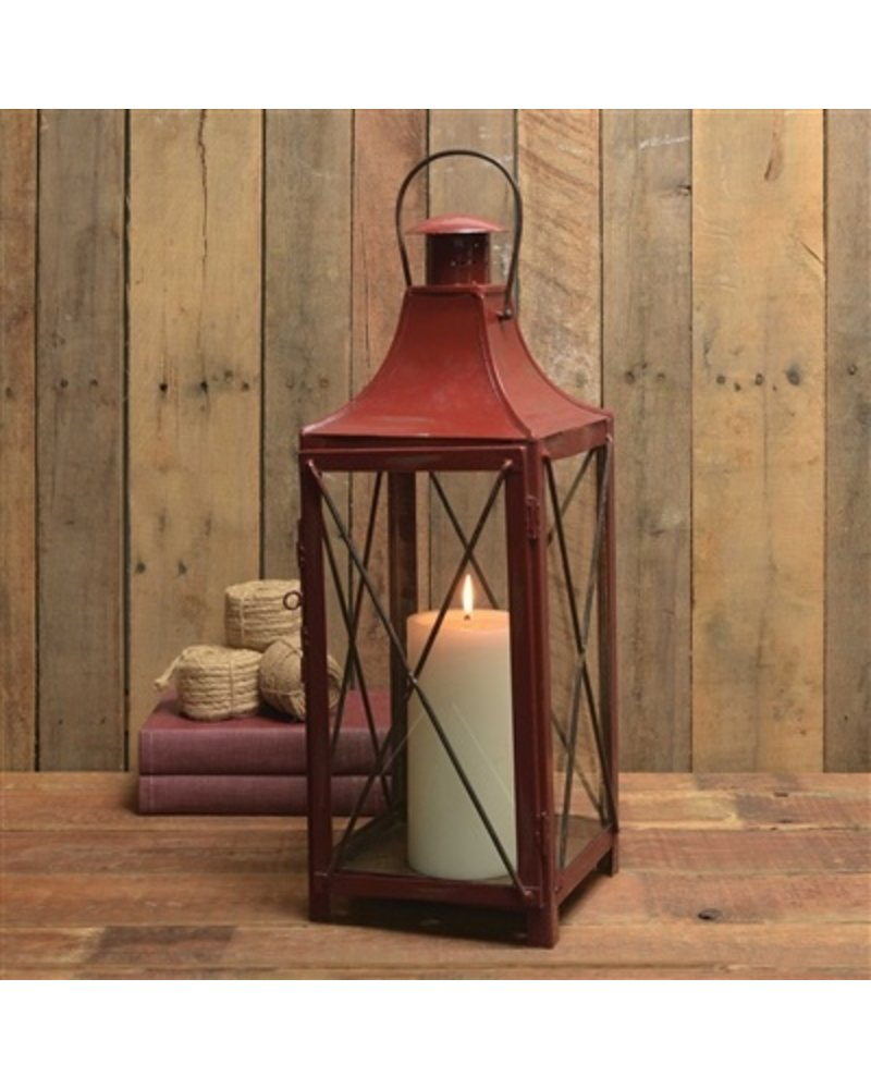 HomArt Carriage Metal Lantern - Red