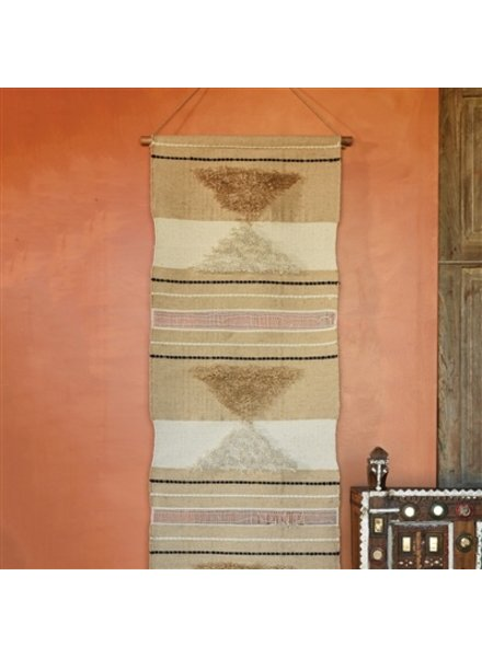 HomArt Sedona Cotton & Jute Wall Hanging  Natural