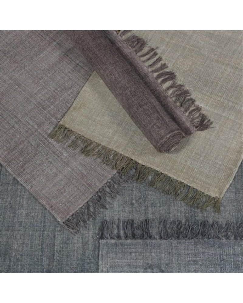 HomArt Stonewashed Cotton Runner, 2.5x8  Stonewashed Aubergine
