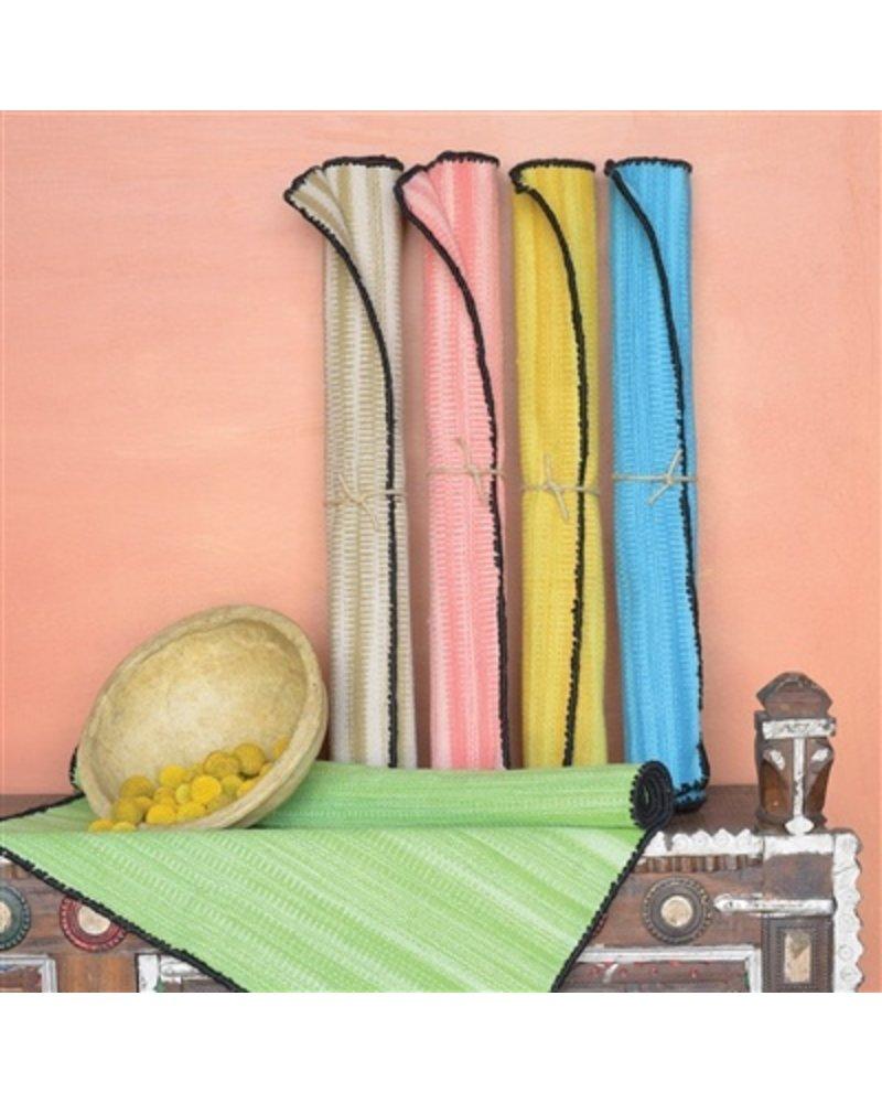 HomArt Tarabuco Cotton Runner, 2.5x8  Vermillion