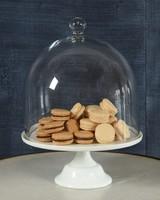 HomArt Magnolia Glass Cake Pedestal - Lrg Opaque White