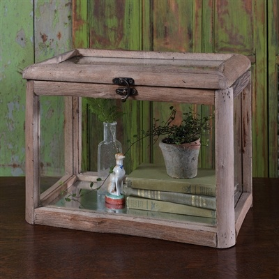 HomArt Fremont Wood & Glass Hinged Lid Case