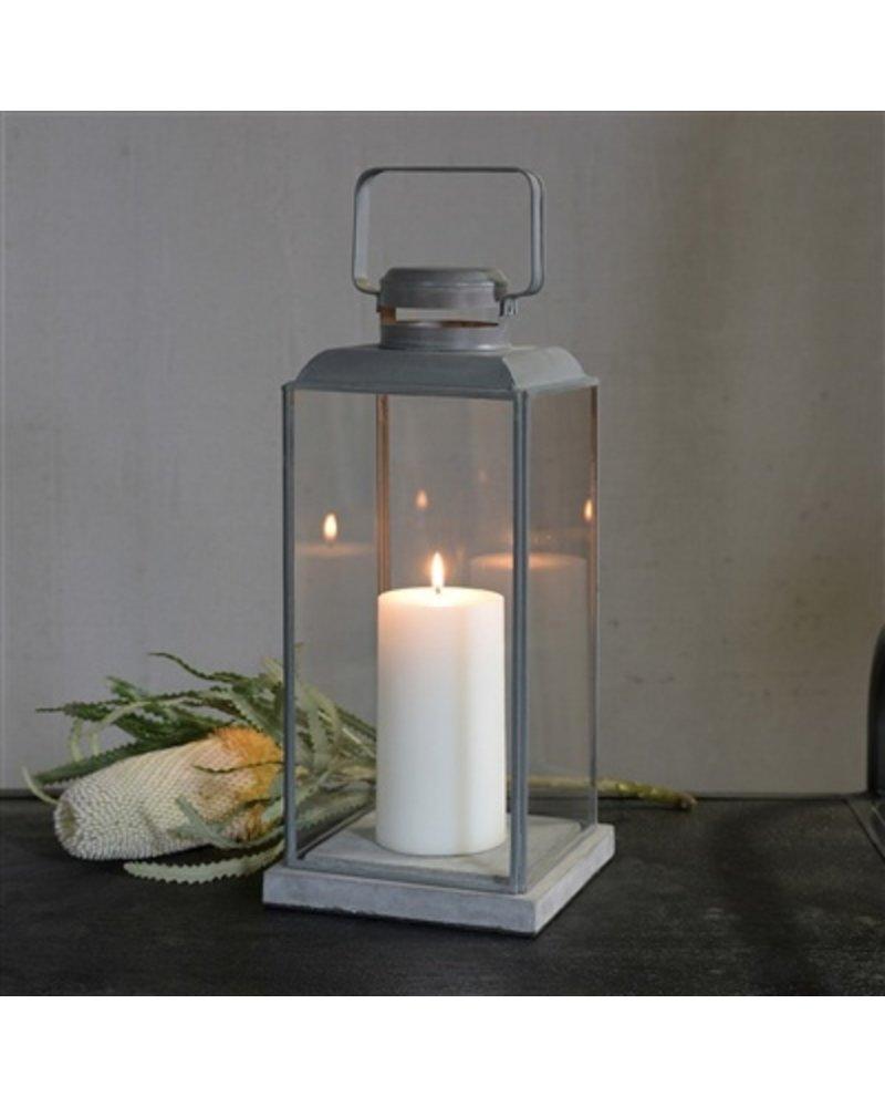 HomArt Risa Lantern w/ Concrete Base