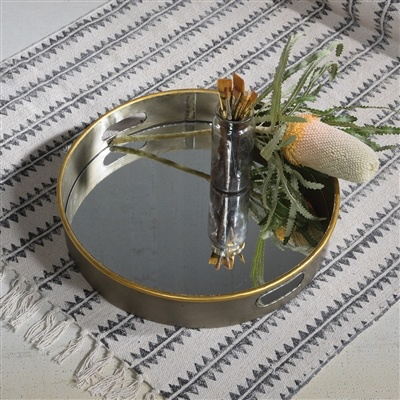 HomArt Costa Mirror Bottom Tray - Round