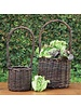 HomArt Willow Tall Handled Baskets - Set of 2 - Natural