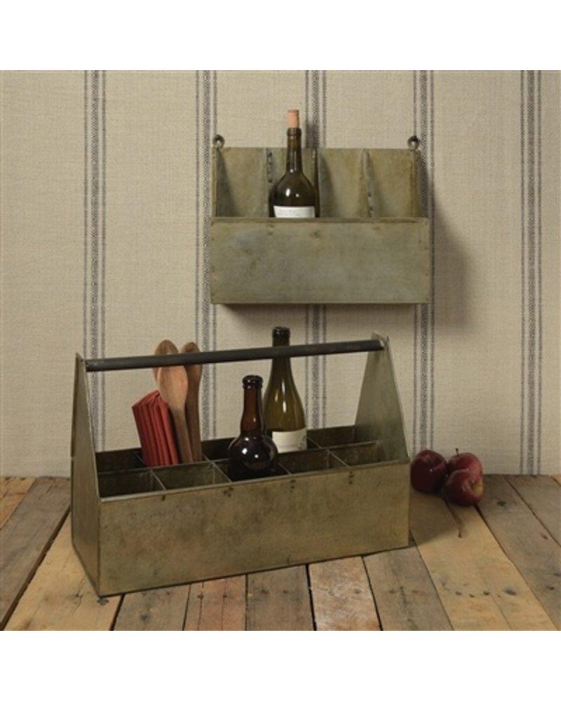 HomArt Fallbrook Wall Mounted Bottle Holder - 4 Bottles  Light Rust Galvanized