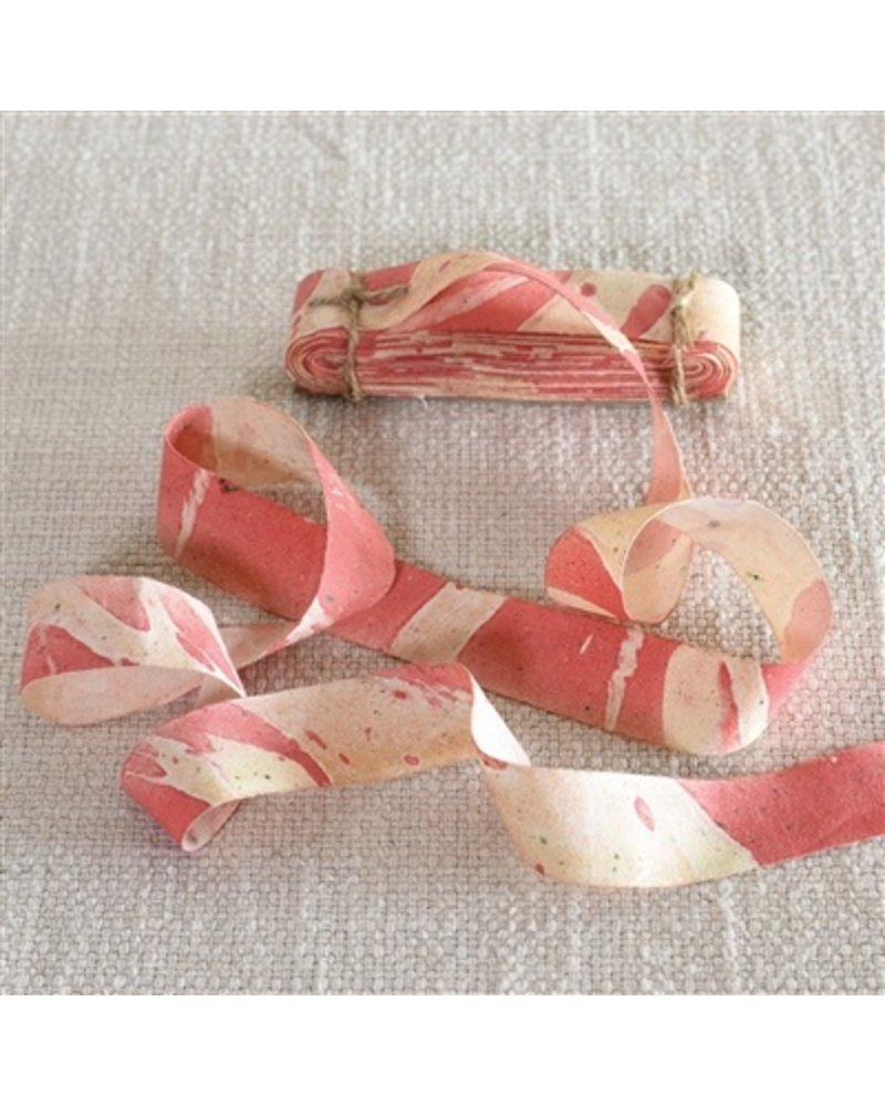 HomArt Marbleized Grosgrain Ribbon - Red