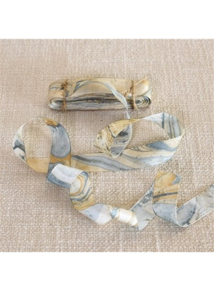 HomArt Marbleized Grosgrain Ribbon - Blue