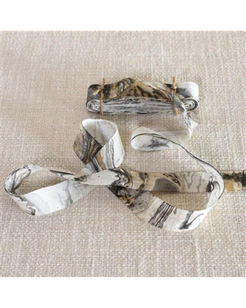 HomArt Marbleized Grosgrain Ribbon - Grey