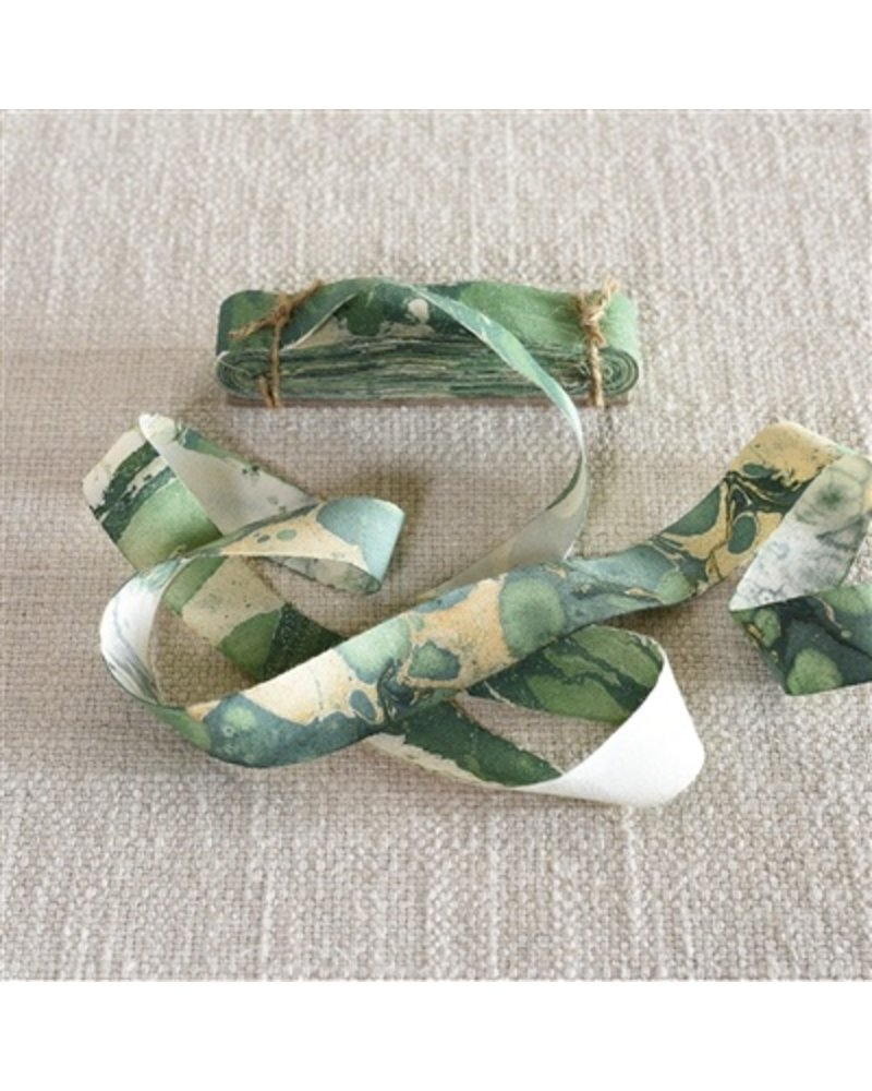 HomArt Marbleized Grosgrain Ribbon - Green