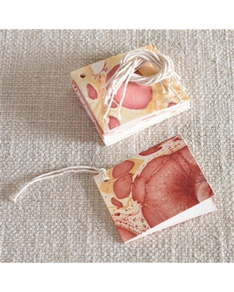 HomArt Rose Marbleized Paper Gift Tag - Pack of 12