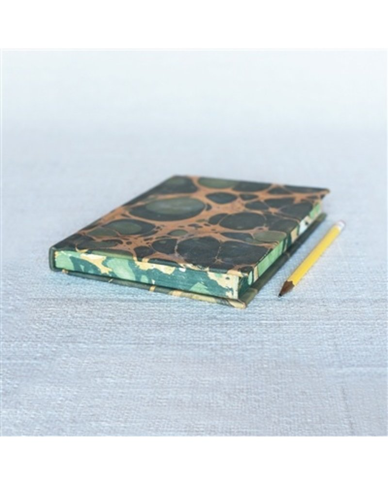 HomArt Marbleized Leather Journal  Green