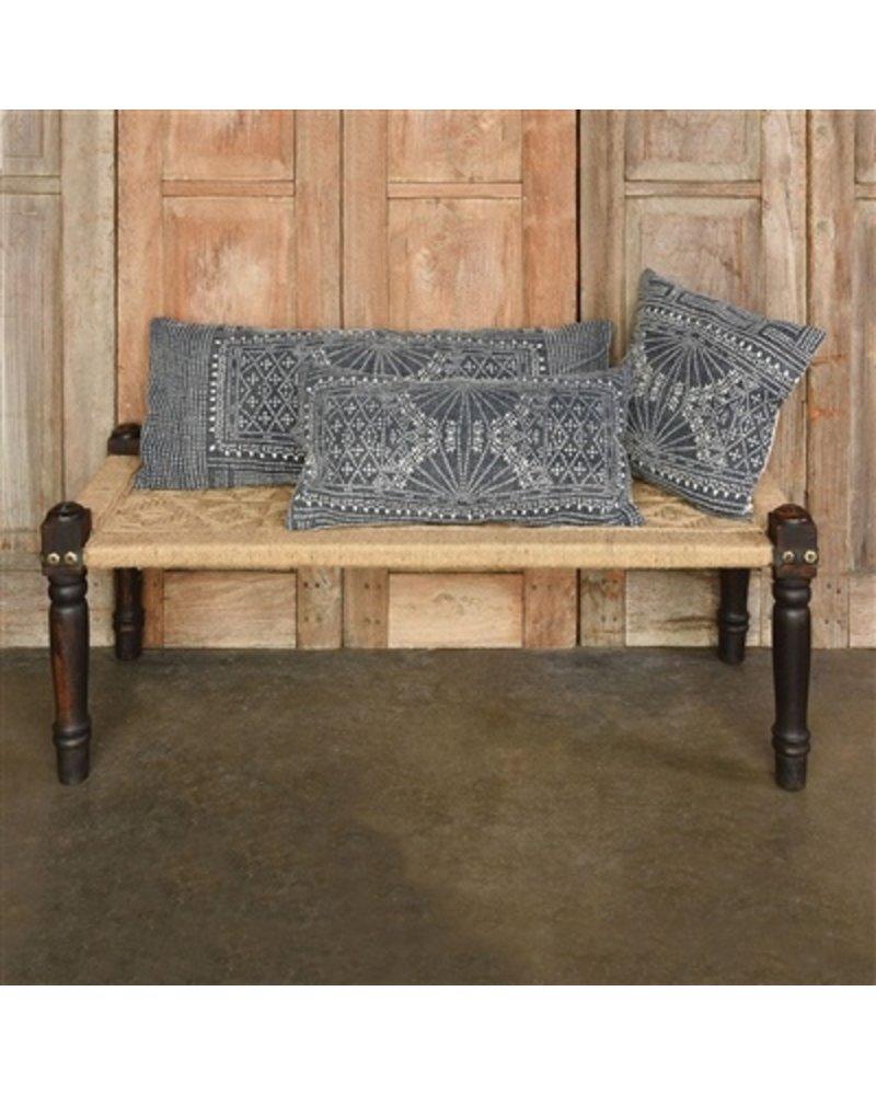 HomArt Indigo Batik Lumbar Pillow 14x36 - Indigo Batik