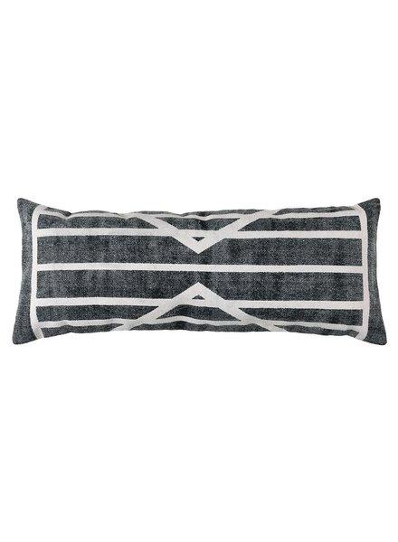HomArt Block Print Lumbar Pillow 14x36 - Centerpoint Stripe