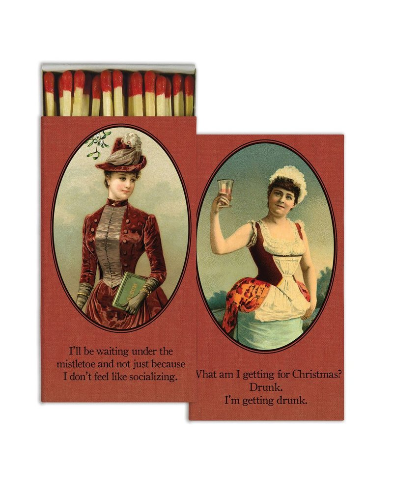 HomArt Cheeky Holiday HomArt Matches - Set of 3 Boxes